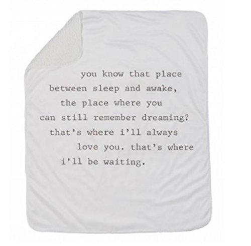 Dreaming Sherpa Blanket by Mud Pie