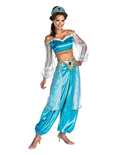 Disguise Women's Disney Aladdin Jasmine Sassy Prestige Costume, Green, Small 4-6]()