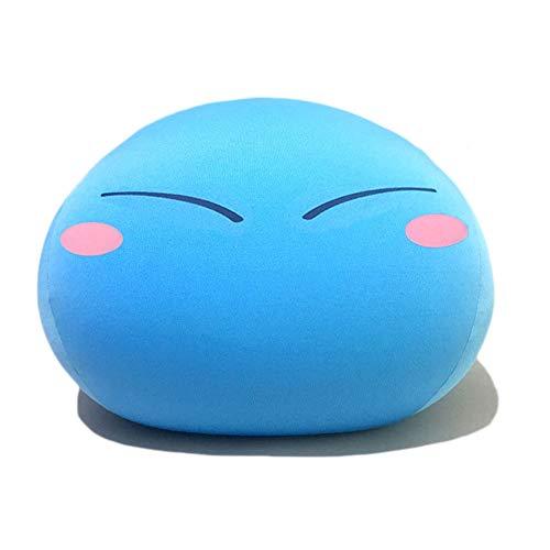 Helen-sky Tensei Shitara Slime Datta Ken Slime Plush Toy 15.7'' Mascot Blue Cute Children Gift Stuffed Birthday Pillow Cartoon Doll (C)