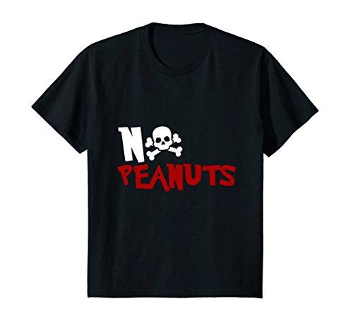 Kids NO PEANUTS T SHIRT Nut Allergy Peanut Allergy Epinephrine 12 ()