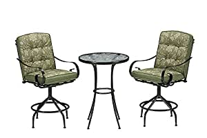Cora 3 Piece High Bistro Set Green