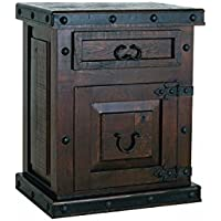 Rustic Gran Hacienda Nightstand Solid Wood Lodge Old World