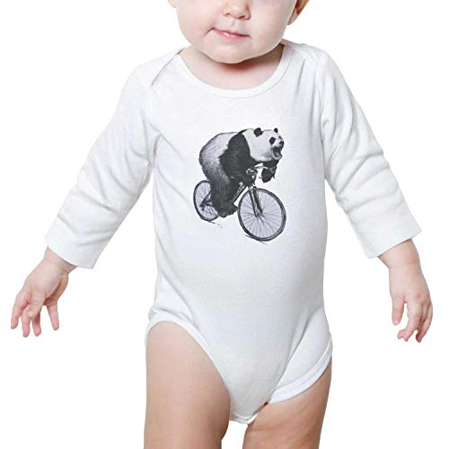 Price comparison product image Panda Roaring On A Bicycle Baby Girls Cute Baby Outfits