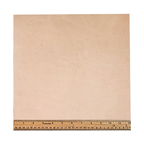 "Tooling Leather Natural Topgrain Veg Tan Light Weight 3-4 oz, 12"" x 12"" Piece, 1 Square Foot"