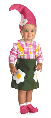 Disguise Flower Garden Gnome Costume, Pink, 1T-2T]()