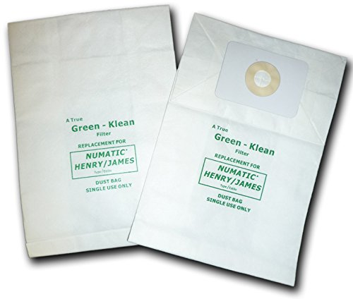Green Klean GK-NVM1C N.A.C.E. & Numatic Henry and James and RSV130 Replacement Vacuum Bags (Pack of 100)