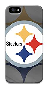iPhone5/5S Case,Surrounded All Printed Case(Case can be customized)Hard PC Plactis,[4.0Inch]Fashion Style Colorful Painted,Colored case Easy To Operate-Steelers 2
