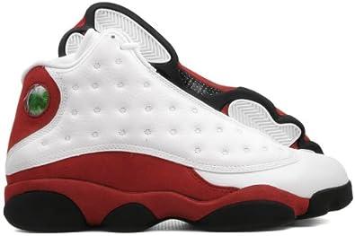 fb21ef1c5a57e Nike Mens Air Jordan 13 Retro Cherry Leather Basketball Shoes