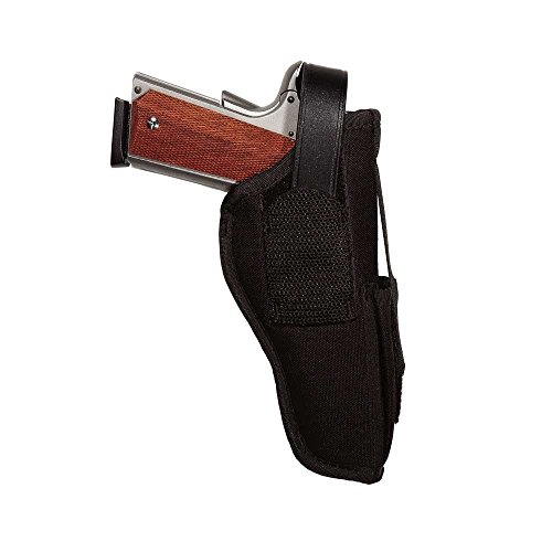 Uncle Mike's Kodra Nylon Sidekick Ambidextrous Hip Holster with Magazine Pouch (Size 5, Black)