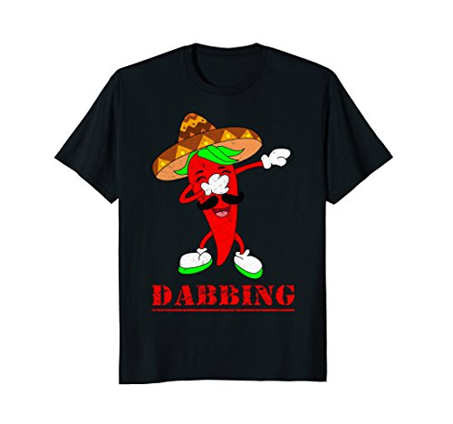 Funny Dabbing Hot Chili Pepper Dab Dance Cute Gift T-shirt Dancing Chili Pepper