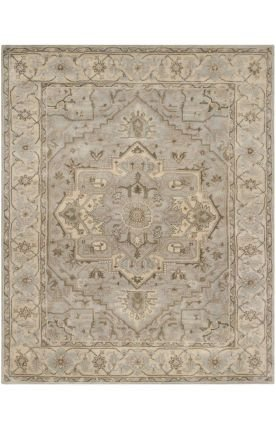 Safavieh Heritage Collection HG866A Handmade Traditional Oriental Beige and Grey Premium Wool Area Rug, 2 feet by 3 feet (2′ x 3′)