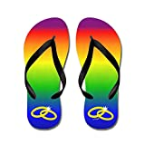 CafePress Rainbow Marriage - Flip Flops, Funny Thong Sandals, Beach Sandals