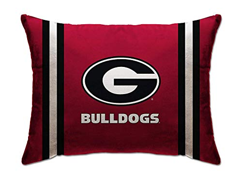 Pegasus Sports NCAA PLUSH LOGO BED PILLOW- UNIVERSITY OF GEORGIA, Red, 20x26