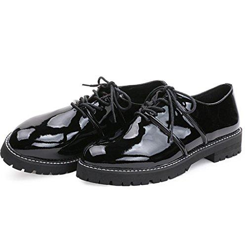 signore da 32 scarpe stivali Da Spessore 39 Scarpe Le inferiore lavoro BLACK donna Black Scarpe Martin Stivali all'aperto pqHpdv