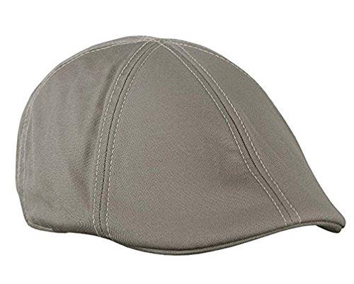 Duckbill Cap - Sox Market Mens Cotton Duckbill Colorful Cap Golf Driving Ivy Cabbie Hat (Grey)