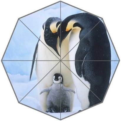 Penguin Nature Cute HD Image for Auto Foldable Umbrella