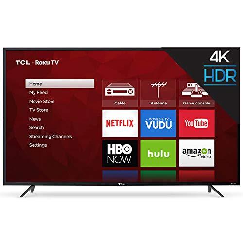 TCL 65' Class 4K (2160P) Roku Smart LED TV...