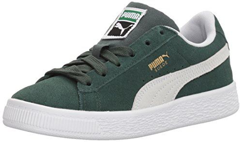 PUMA Unisex-Kids Suede Classic Sneaker, Pine Needle White, 12.5 M US Little Kid