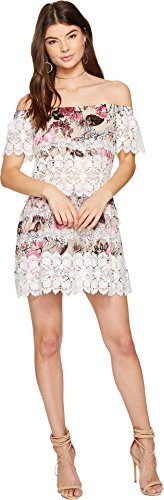 For Love and Lemons Women's Cadence Off the Shoulder Dress Pink Floral Dress by For Love & Lemons