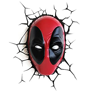 3DLightFX Marvel Deadpool Mask 3D Deco Light