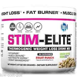 BPI Sports Stim-Elite Thermogenic Fruit Punch + New BPI Sports Roxylean ELITE Sample Pack