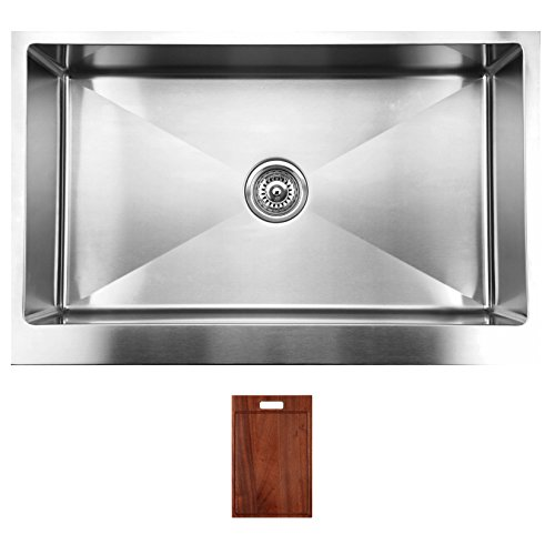 ukinox modern apron front single bowl kitchen sink with