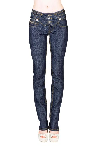 VIRGIN ONLY Women's Slim Fit Stretch Denim Straight Leg Jeans (Grayish Blue, Size 3)
