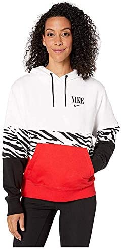 [NIKE(ナイキ)] レディーススウェット・パーカー等 NSW Essential Hoodie Pullover French Terry Graphics White/White/University Red/Black (XL) [並行輸入品]