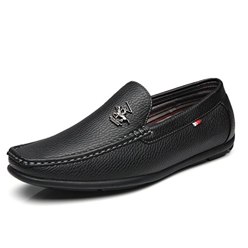 Beverly Hills Polo Club Men's Driving Moccasins Slip On Loafers Comfortable Casual Driving Shoes for - Style Dress Italian Brown Shoes