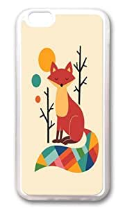 Apple Iphone 6 Case,WENJORS Adorable Rainbow Fox Soft Case Protective Shell Cell Phone Cover For Apple Iphone 6 (4.7 Inch) - TPU Transparent