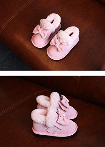 Ohmais Kinder Mädchen Junge Halbschuhe Stiefel und Stiefeletten klassische kleines Mädchen Schuh Pink