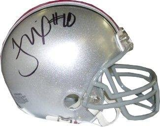 Fanatics Authentic Certified Troy Smith Ohio State Buckeyes Autographed Riddell White Panel Football withHT 06 Inscription