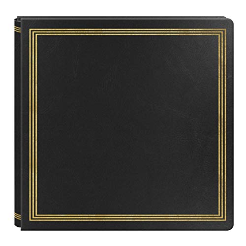 (Large Magnetic Page X-Pando Photo Album, Black)