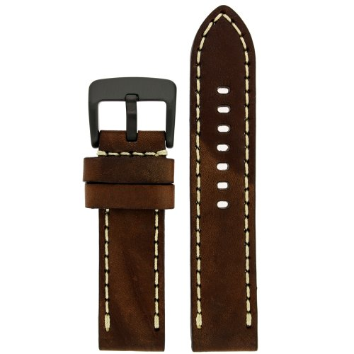 Tech Swiss LEA1558-22 Calfskin Brown Leather Extra Thick 22mm