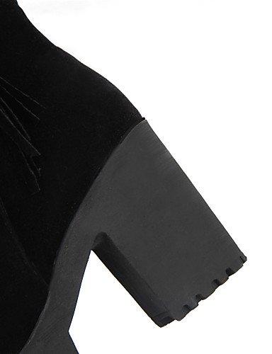 XZZ/ Damen-Stiefel-Outddor / Büro / Lässig-Kunstleder-Plateau-Absätze / Plateau / Modische Stiefel-Schwarz / Rot black-us5 / eu35 / uk3 / cn34