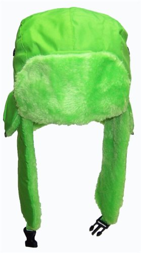 d4eda407931e0 Best Winter Hats Big Kids Lightweight Neon Russian Trooper Faux Fur ...