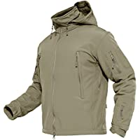 MAGCOMSEN Men's Waterproof Windproof Softshell Fleece...