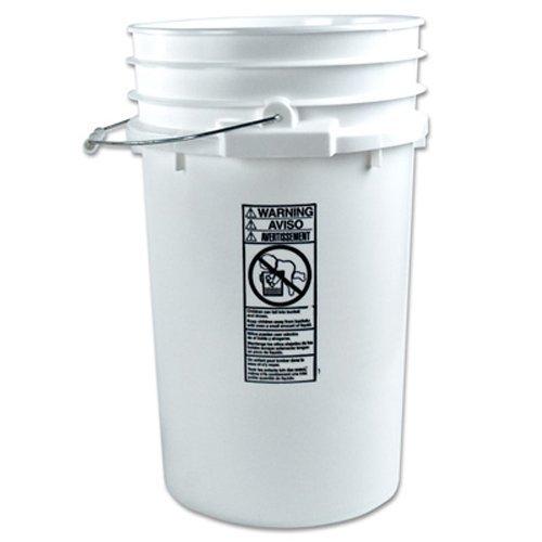Letica 7 Gallon HDPE Bucket, White