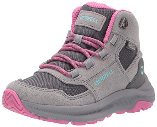Merrell Kids' Unisex M-Ontario 85 Wtrpf Hiking Boot, Grey/Pink, 11.5 M US Little Kid