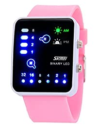 Nollimet Unisex LED Mini Digital Casual Touch Screen Sport Water Designer Style Watch Pink