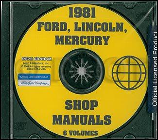 (1981 Ford Lincoln Mercury Car Repair Shop Manual CD)