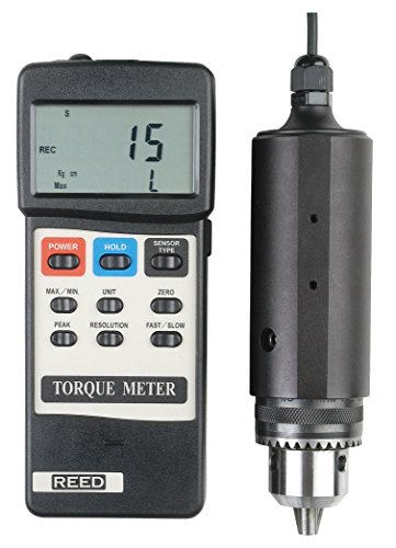 REED Instruments TQ-8800 Torque Meter, 0 to 15 lb-ft. (15 Kg-cm/147.1 N-cm) by REED Instruments