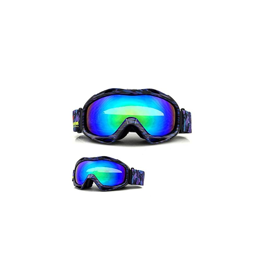 He yanjing Snowboarding Goggle, Anti Fog Snow,UV Protection,Climbing Mirror,Motocross Goggles, Dirt Bike Goggles,Youth Boys Girls
