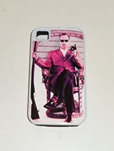 JOHN WATERS Pink Flamingos iPHONE 4 4S WHITE RUBBER CELLPHONE CASE