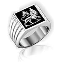 A.TATOON Mens Lion Of Judah Silver Stainless Steel Ring (12)