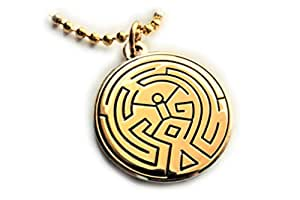 Westworld Maze Symbol Tattoo HBO Series Season 1 2 Charm Pendant Neciklace with Ball Chain