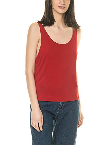 dr-denim-jeansmakers-womens-zora-womens-red-top-in-size-m-red