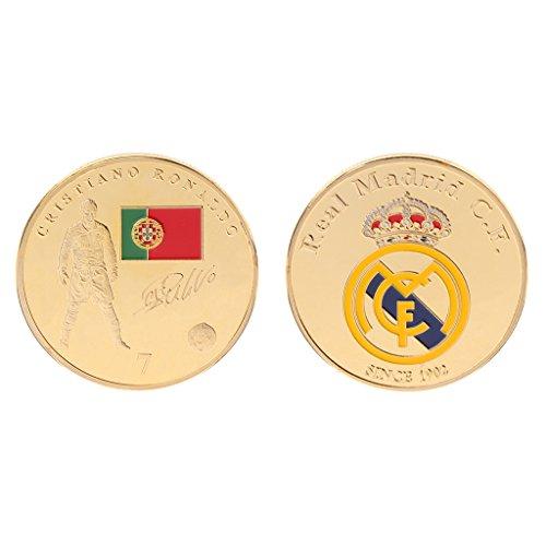 (PoityA Commemorative Coin Football Superstar Cristiano Ronaldo Collection Arts Souvenir)