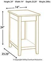 ec5e0b9b751450 Signature Design by Ashley T217-811 Diamenton Chairside End Table Black.  Loading Images.