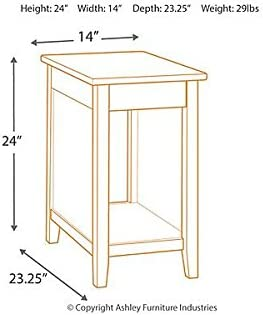 1f56b8349d577c Signature Design by Ashley T217-811 Diamenton Chairside End Table Black.  Loading Images... Back. Double-tap to zoom